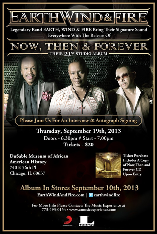Earth Wind & Fire | The Experience – September 19th 2013